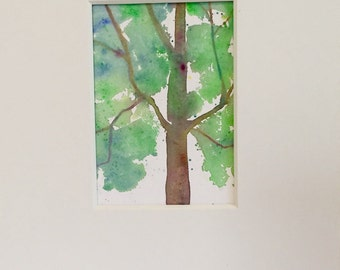 Original painting - Tree in Summer - summer Landscape - Four seasons painting - fine art home decor - wall art