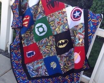 Superhero Comic Book Quilt