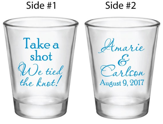 Glass Wedding Gifts: Items Similar To 216 Personalized Wedding Favors 1.5oz