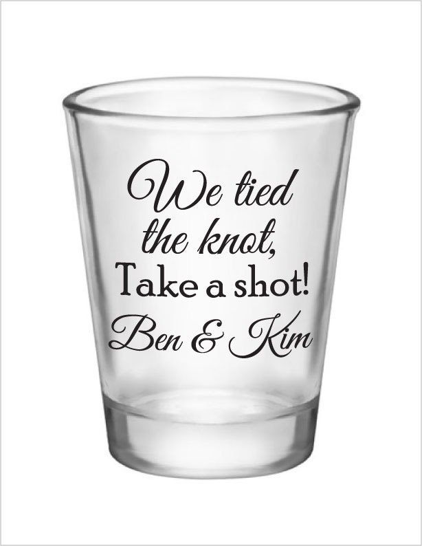 wedding shot glasses 120 personalized wedding favors by factory21