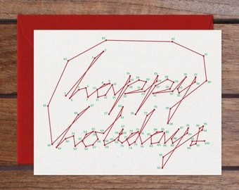 Connect the Dots: Happy Holidays Set (8 Cards)