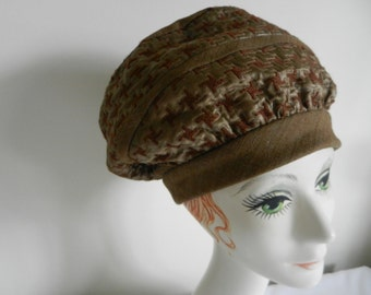 Vintage Tan Chocolate Hat from Carson Pirie Scott and Co French Room