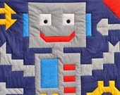Robot baby quilt PATTERN  - PDF format