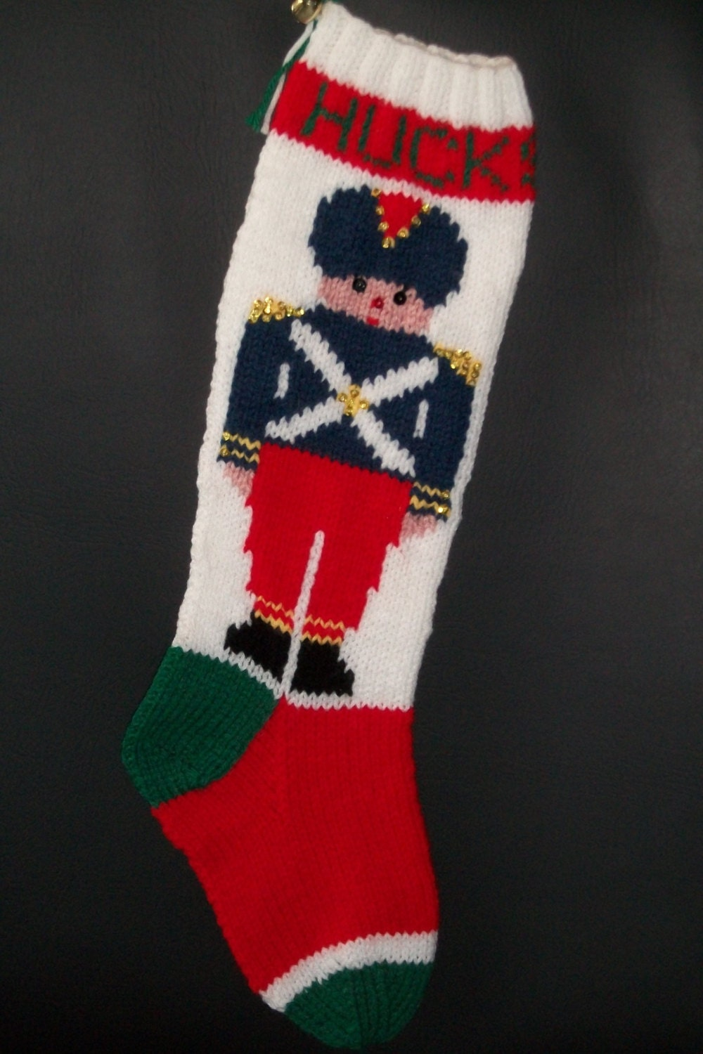Christmas Stocking Hand Knitted Custom Order Original Design