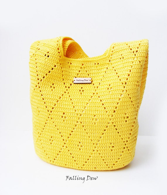 Handmade Crochet Handbags : Crochet handbag Bag & Purses Handbags Shoulder Bag by FallingDew
