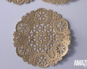 6-Inch gold Royal Lace Round Foil Doilies, pack of 6