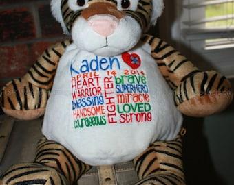 CHD personalized Tiger Warrior Pet, stuffed animal
