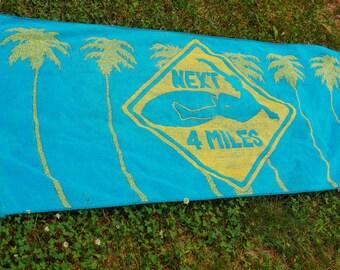 Vintage Beach Towel - Surfer Towel Pool Towel - Surf's Up Surfer Dude