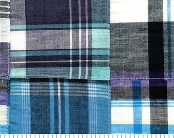 Madras Patchwork Cotton Fabric -  Fabric Finders - 1 Yard