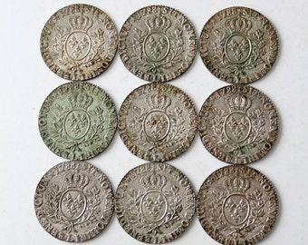 vintage 1788 sit nomen domini benedictum replica coin coasters set of 9