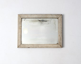 antique mirror, painted white frame wall mirror