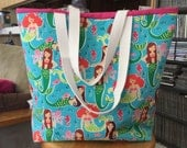 Mermaids Medium Beach Bag/Gym tote/Pool tote