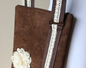 Brown Faux Suede Cross Body Hipster Bag