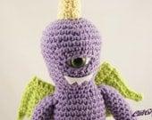 One Eyed One Horned Flying Purple People Eater Monster Amigurumi Plush