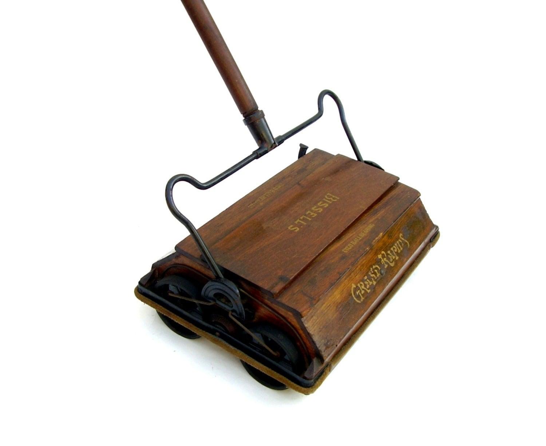 Antique Bissell Rug Amp Floor Sweeper Wood Handle 1800s Works