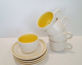 Franciscan Hacienda Gold Teacups Set of 5 Great Condition
