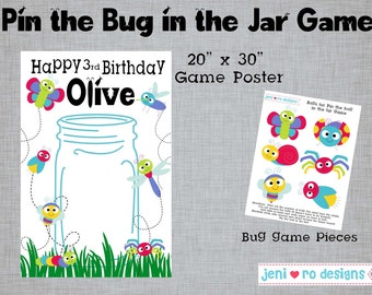 Pin the Bug in the Jar - Printable Party Game!