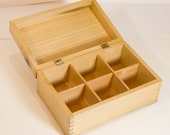 Tea box crafted of  big-leaf maple