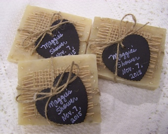 Chalkboard style tags, 40 medium favors soaps, lavender oatmeal organic soaps, bridal shower, wedding favors
