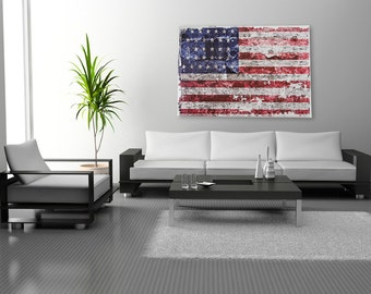 Stars and Stripes US Flag Canvas Wrap