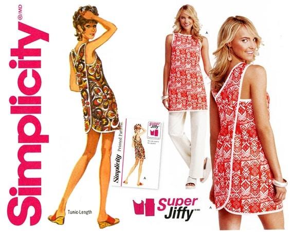 Wrap On Mini Dress Pattern Uncut Simplicity 1133 Easy To Sew