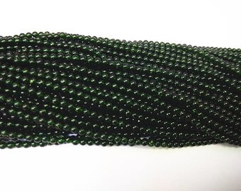 2mm Round Green Sandstones Beads 15''L Natural Genuine Semiprecious Gemstone Bead Wholesale Beads