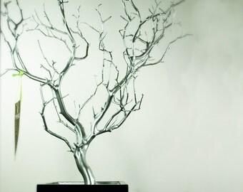 """30"""" Silver Painted Jewelry Tree / Jewelry Organizer"""
