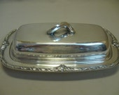 Silver Plate Oneida Community Ltd Butter Dish Hi Light 1929-1935