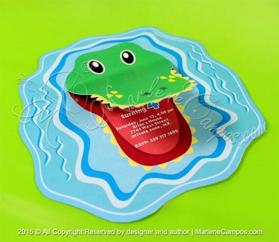 Alligator invitation printable invitation alligator party il570xn filmwisefo