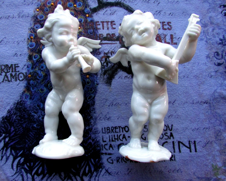 Porcelain Angel Cherub Putto Hutschenreuther Kunstabteilung