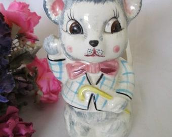 Vintage Ceramic Mouse Planter Relpo Decorative Planter
