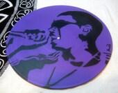 Beau Pope Misfit Rapper on Vinyl Album Stencil Art ~ Popes with Paint Original Piece