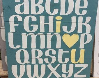 12 x 12 ABC I Love You