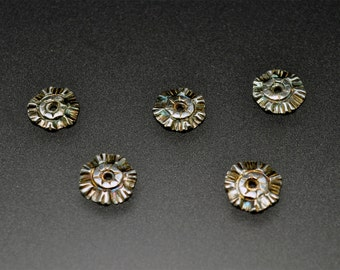 A Collection of Fine Silver Metal Clay Flower Disk Components