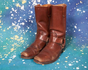 Brown MOTORCYCLE Boots Men's Size 10 M