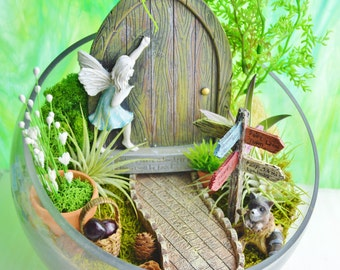 Pretty Fairy Garden Kit Fairy Garden Supplies Fairy Kits Fairy House  With Exquisite Fairy Garden With Fairy Door And Sign  Wooden Door With Blue Dress Fairy   Lichen Moss   Airplants  Raccoon    Terrarium Kit  Gift With Nice Garden Hoses That Don T Kink Also Vertical Vegetable Garden In Addition In The Night Garden Glasgow And Garden Carts Uk As Well As Elementary School Garden Additionally Garden Water Hose From Etsystudiocom With   Exquisite Fairy Garden Kit Fairy Garden Supplies Fairy Kits Fairy House  With Nice Fairy Garden With Fairy Door And Sign  Wooden Door With Blue Dress Fairy   Lichen Moss   Airplants  Raccoon    Terrarium Kit  Gift And Pretty Garden Hoses That Don T Kink Also Vertical Vegetable Garden In Addition In The Night Garden Glasgow From Etsystudiocom