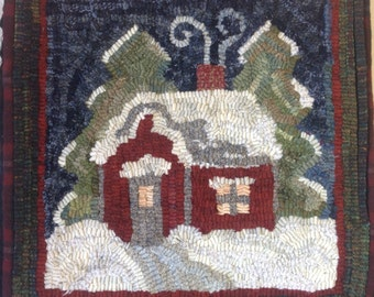 "Rug Hooking PATTERN, Winter Wonderland, 14"" x 14"", J942"