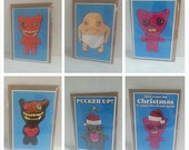 Mixed lot of 10 x Fuggler Greeting Cards (designed by Matte Black)