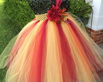 Autumn Sunrise  Fall Flower Girl Tutu Dress/ Shabby Chic Wedding/ Rustic Wedding/ Country Wedding/ Fall weddings/ fall theme weddings