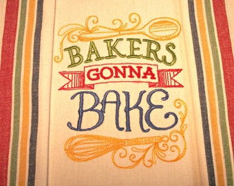 Embroidered Kitchen Towel, Housewares, great for Wedding Showers, House warming Gift