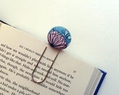Oversized Paperclip Bookmark. Butterfly Garden. Teacher Gift. Graduation Gift. Ready to Ship.