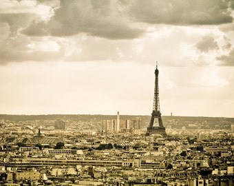 Paris Eiffel Tower photography, Paris large photography, Paris art print