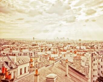 "Paris rooftops photography, Paris photography, Paris art print, large photography -"" Paris Vertigo"""
