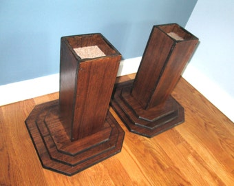 Wonderful Furniture Risers, 12 Inch All Wood Construction, Espresso Finish   Raise  Furniture, Create