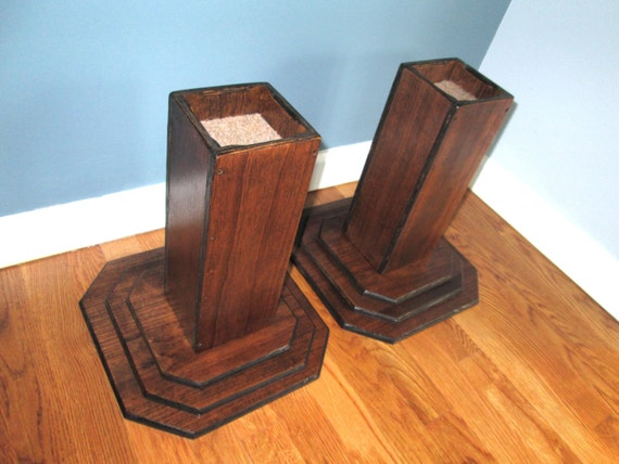 furniture risers 12 inch all wood construction espresso
