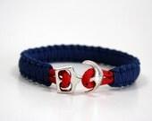 nautical bracelet,maritime cord,paracord bracelet,sailing rope bracelet,sail jewelry,anchor bracelet,beach bracelet,beach jewelry,
