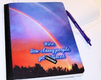 Wine, How Classy People get Sh*tfaced (Adult)  -  Blank Journal Note Book MTCoffinz