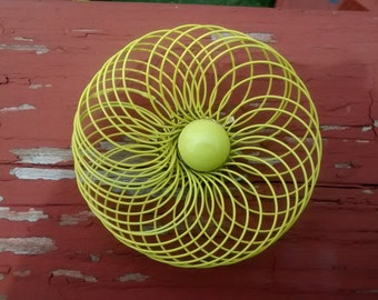 Vintage Large Yellow Brooch
