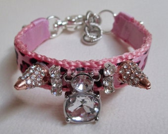 Dog Collar Jewelry Necklace Toy Dog Extra Small Pink