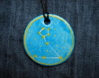 Pisces Jewellrey -Zodiac pendant,Constellation Zodiac Jewellery,august zodiac- Astrology - Astronomy - Constellation on Blue